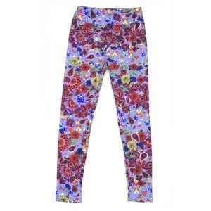 LuLaRoe Pants - LulaRoe One Size Leggings Red Paisley Floral Print